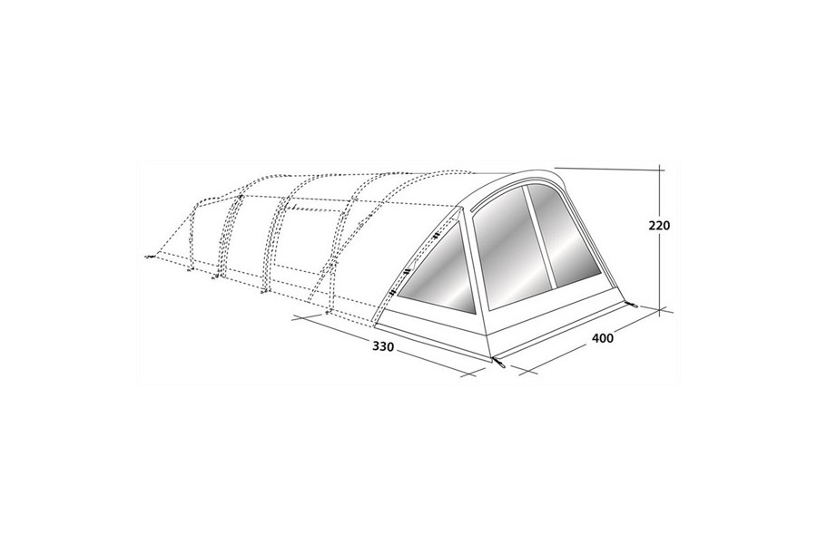 outwell denver 6 front awning bewak is specialised in camping