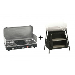 Pack réchaud + support Outwell Chef Cooker Premium 2 Feux + 1 Grill