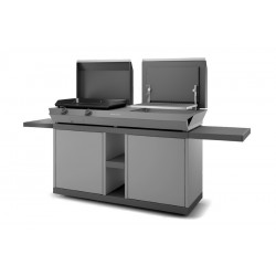 Forge Adour Steel mobile table – Matt black and white for Combi G